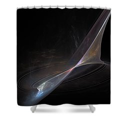 Earth Forming Shower Curtain by Peter R Nicholls