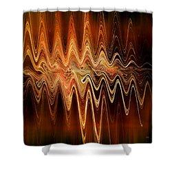 Shower Curtain featuring the digital art Earth Frequency by Menega Sabidussi