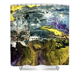 Madness Shower Curtain by Kelly Turner