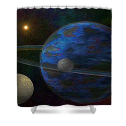 Earth-like Shower Curtain