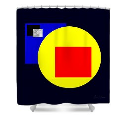 Earth Moon Sun Mars Shower Curtain