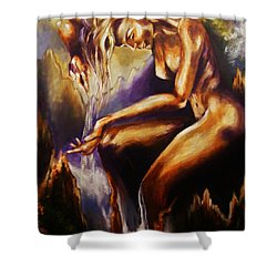 Earth Mother - Water Shower Curtain