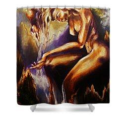 Earth Mother - Water Shower Curtain by Karen  Ferrand Carroll