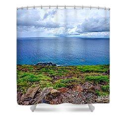 Earth Sea Sky Shower Curtain