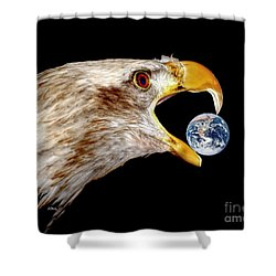 Earth Shattering Influence Shower Curtain