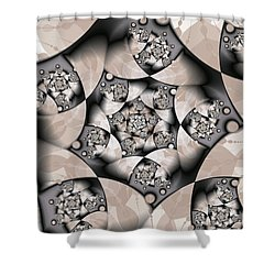 Shower Curtain featuring the digital art Earth Tones by Gabiw Art