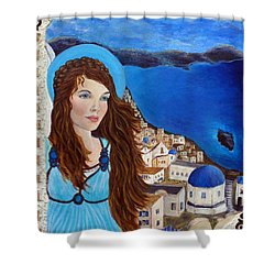 Earthangel Athena Shower Curtain by The Art With A Heart By Charlotte Phillips