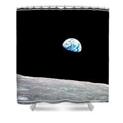 Earthrise Nasa Shower Curtain