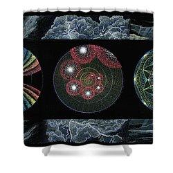 Earth's Beginnings Shower Curtain by Keiko Katsuta