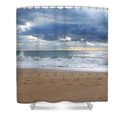 Earth's Layers - Jersey Shore Shower Curtain