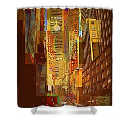 East 45th Street - New York City Shower Curtain