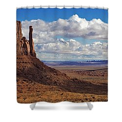 East And West Mittens Shower Curtain by Jerry Fornarotto