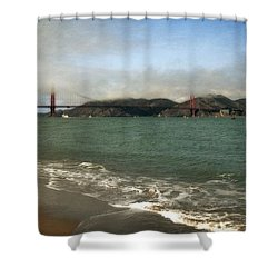 East Beach And Golden Gate Shower Curtain