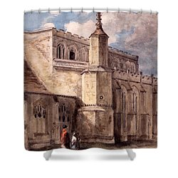 East Bergholt Church, Northside Shower Curtain by John Constable