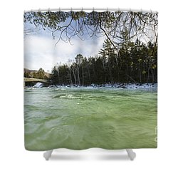 East Branch Of The Pemigewasset River - Lincoln New Hampshire Usa Shower Curtain by Erin Paul Donovan