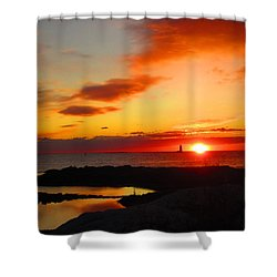 East Coast Sunrise  Shower Curtain