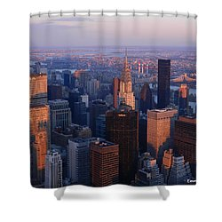 East Coast Wonder Aerial View Shower Curtain by Emmy Marie Vickers