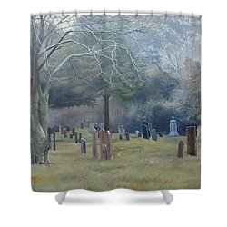 East End Cemetery Amagansett Shower Curtain
