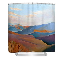 East Fall Blue Ridge No.3 Shower Curtain by Catherine Twomey