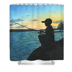 East Pond Shower Curtain