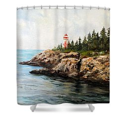 East Quoddy Head Light Shower Curtain by Lee Piper