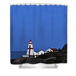 East Quoddy Lighthouse - D002160 Shower Curtain by Daniel Dempster