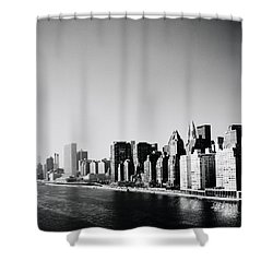 East River New York Shower Curtain