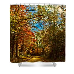 East Texas Back Roads Hdr Shower Curtain
