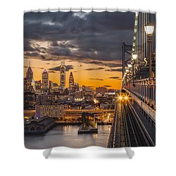 Eastbound Encounter Shower Curtain