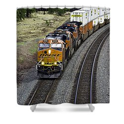 Eastbound Freight Shower Curtain