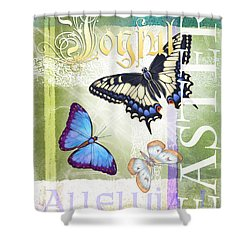 Easter Alleluia Shower Curtain