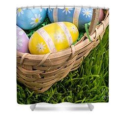 Easter Basket Shower Curtain by Edward Fielding