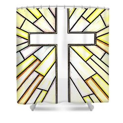 Easter Cross 3 Shower Curtain by Jim Harris