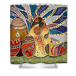 Easter Eggstravaganza Shower Curtain