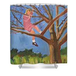 Easter In The Apple Tree Shower Curtain