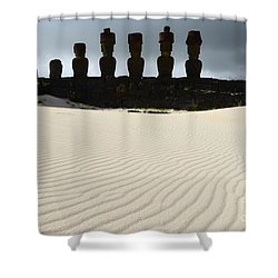 Easter Island 9 Shower Curtain by Bob Christopher