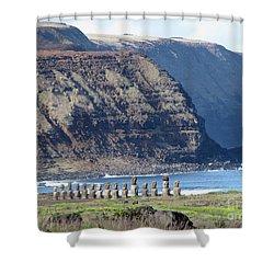 Easter Island Requiem Shower Curtain