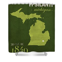 Eastern Michigan University Eagles Ypsilanti College Town State Map Poster Series No 035 Shower Curtain by Design Turnpike