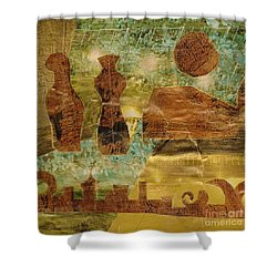 Eastern Motif Shower Curtain