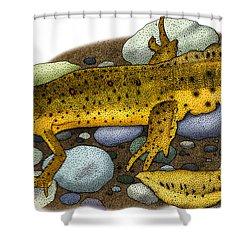 Eastern Newt Shower Curtain