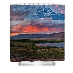 Eastern Sierra Sunset Shower Curtain