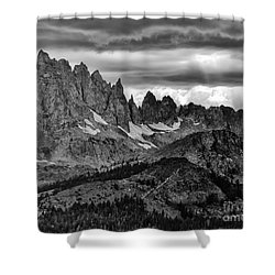 Eastern Sierras Summer Storm 2 Shower Curtain by Terry Garvin