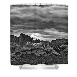 Eastern Sierras Summer Storm Shower Curtain