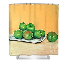 Eat Green Shower Curtain by Katharina Filus