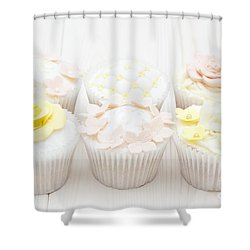 Eat With Your Eyes Shower Curtain by Anne Gilbert