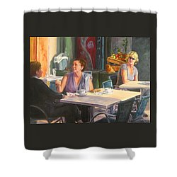 Eavesdropper Shower Curtain