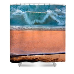 Ebb And Flow Shower Curtain by Edgar Laureano