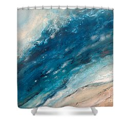 Ebb And Flow Shower Curtain by Valerie Travers