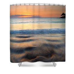 Ebb Shower Curtain by Mike  Dawson