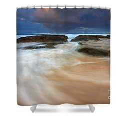 Ebb Tide Sunrise Shower Curtain by Mike  Dawson